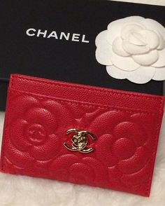 Red Caviar Leather Card Holder