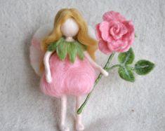Herfst Fairy Waldorf Geïnspireerd naald vilten muur door MagicWool