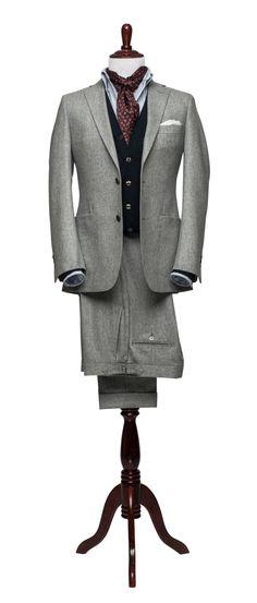 Hollywood Flannel Suit Vitale Barberis 12oz