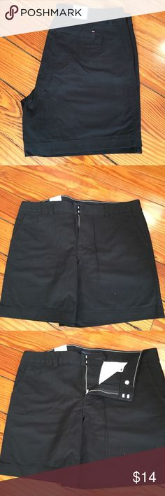 Tommy Hilfiger shorts New with tags. Tommy Hilfiger shorts. Black. Size 14 with 7 inch inseam.   From clean home, non smoking, no pets. Please comment with any questions and bundle and save! Tommy Hilfiger Shorts