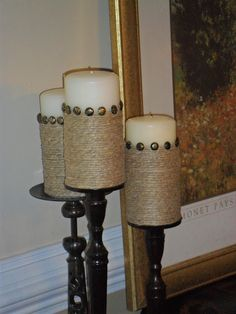 Knock-it-Off Crafts: Basic to Bedazzling - a Pillar Candle Quickie