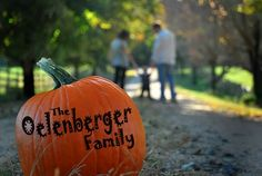 Family Name on a Pumpkin (Amber S. Wallace Photography) - This idea.  Not just a pumpkin.