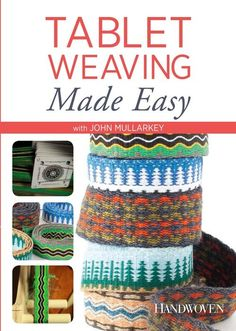 John Mullarkey demystifies tablet weaving (aka card weaving). Perfect for weaving on-the-go this summer!