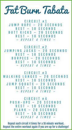 Fat Burning Tabata Workout - Lose Belly Fat in a Week Cardio Fitness Motivation, Fitness Workouts, Fitness Logo, Fitness Diet, Health Fitness, Tabata Workouts At Home, Cardio Hitt Workout, Leg Workouts, Best Hiit Workouts Fat Burning