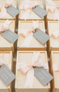 Pink and Gray Wedding Photography Client Gift Boxes. Marigold & Grey creates artisan gifts for all occasions. Image: Red October Photography
