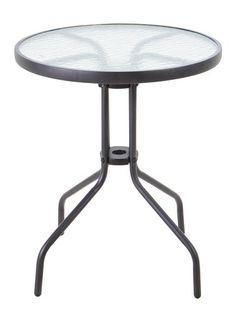 Asztal BLOKHUS ÁTM60cm fekete | JYSK
