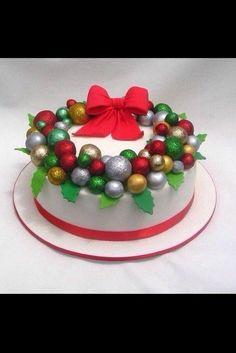 Holiday cake Xmas Cakes, Christmas Cakes, Holiday Cakes, Christmas Goodies, Holiday Treats, Christmas Treats, Santa Cake, Xmas Desserts, Christmas Cake Decorations