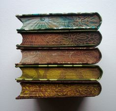 Hand decorated books. We need more of this nowadays.