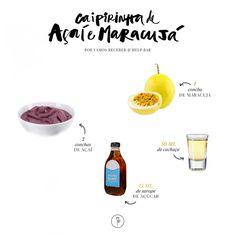 Receita, Bebida, Caipirinha de Açai e Maracujá