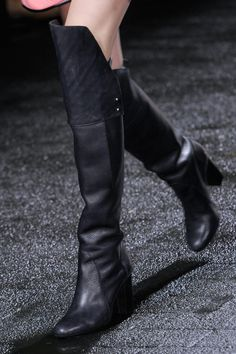3.1 Phillip Lim Fall 2013 RTW Collection -OVER THE KNEE BOOTS CAN BE WORN TO THE OFFICE.  JUST WEAR A SHIFT DRESS WITH IT.