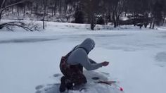 Ice fishing is hard...