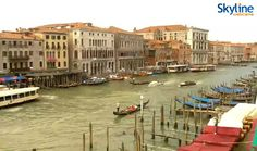 Venice, Canal Grande. Watch this live cam visiting our web site!
