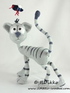Kit the cat amigurumi crochet pattern by IlDikko