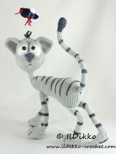 Kit the cat amigurumi crochet pattern by IlDikko