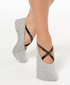 Slip into these sweet liner socks from Calvin Klein, featuring a crisscross logo…