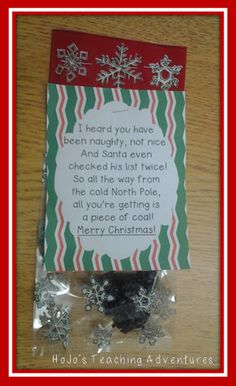 "Students will love making this edible ""coal"" for their families, loved ones, and maybe even the other teachers in the school! A sense of humor is needed, but this is a great gift for students to take home to their families - if it doesn't all get eaten before they leave the school. And it's nut-free!"