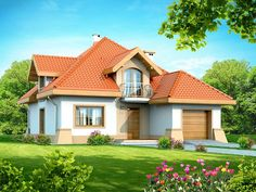 DN Karen is a house with an attic, basement with garage single user in a block building. The project is. Two Story House Design, Classic House Design, Simple House Design, Dream Home Design, Home Design Plans, Indian House Exterior Design, Kerala House Design, Family House Plans, Dream House Plans