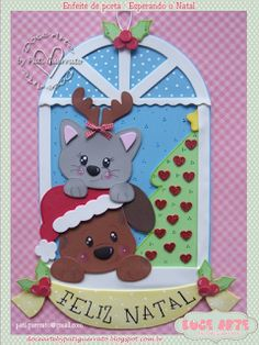 Doce Arte by Pati Guerrato: 2015 Christmas Time, Christmas Cards, Xmas, Christmas Ornaments, Christmas Ideas, Foam Crafts, Preschool Crafts, Dog Cards, Baby Accessories