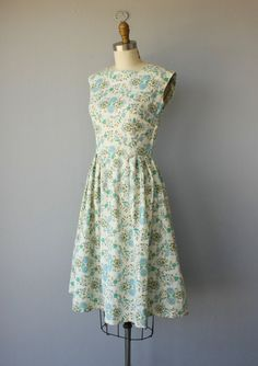 Vintage 1950s Dress 50s Fit and Flare by CustardHeartVintage