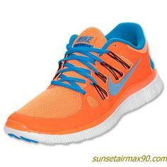 Nike Free 50 Mens Total Orange Blue Hero 579959 840