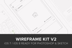 Wireframe Kit v2 by UI8 on @creativemarket