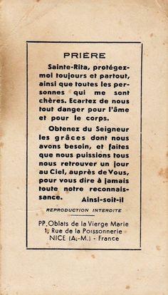 Prière à Sainte Rita (Nice) Priere Ste Rita, Religion, Miracle Prayer, Reiki Meditation, Spiritus, Saint Quotes, Catholic Prayers, Prayer Board, Prayer Quotes