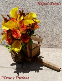 Ramo modelo Rafael Sanzio Diseño de Flores y Piedras www.floresypiedras.cl
