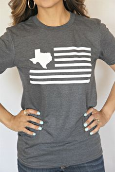 Personalized Flag State Shirts, are hot this season! The Perfect tee for outdoor parties and picnics, especially for the 4th of July right around the corner.