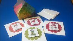 """Geschenkkartons - Karten-Set """"Hallöchen"""" inkl. Geschenk-Verpackung - ein Designerstück von kreativesherzerl bei DaWanda"""