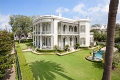 Aerial shot in the Garden District, New Orleans....one of my all time favorite houses in New Orleans.  The main staircase of this house is breathtaking!