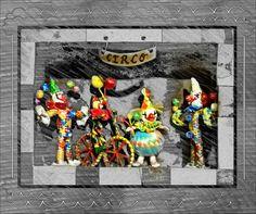 Payasitas tejidas con palma.  Artesanías mexicanas