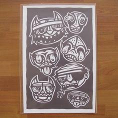 Goons by Nick McPherson  $40.00 Regular  Signed Arist Proof  #art #artist #popsurrealism #fineartprint
