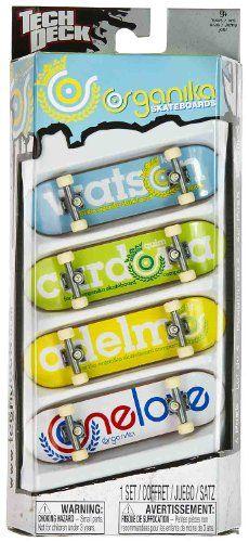Organika Skateboards: Tech Deck 4-Finger Skateboard Pack - Listing price: $50.00 Now: $13.49 + Free Shipping