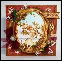 Rainey's Craft Room: Christmas Card Club Challenge # 8 - Vintage