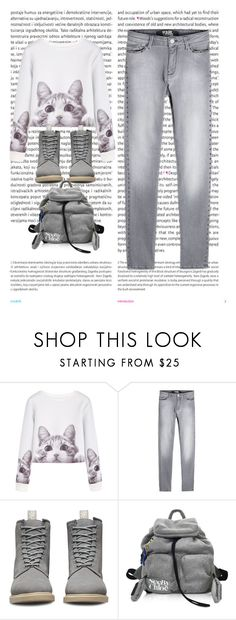 """""""YerG"""" by lalaline ❤ liked on Polyvore featuring Oris, Karl Lagerfeld, Dr. Martens, See by Chloé, outfit, look and beautiful"""