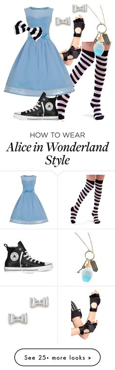 """Modern Alice Set"" by disney-fans on Polyvore featuring Leg Avenue, Marc by Marc Jacobs, Disney, Converse and modern"