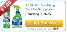 $1.00 off 1 Scrubbing Bubbles Bath product #coupon #cleaning