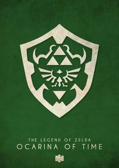 The Legend of Zelda: Ocarina of Time - Nintendo 64 Minimalist Art Print