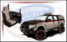 Ford Shows Off Fleet of Customized Trucks
