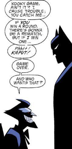 I love Bruce Timm's art! He did a fantastic job with Batman!