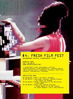 AGI - glitch series - treatment and type Fresh Film Festival 2007 (©adela pauline) Graphic Design Posters, Graphic Design Inspiration, Typography Design, Film Festival Poster, Poster Layout, Deconstruction, Visual Communication, Cover Pages, Poster Prints