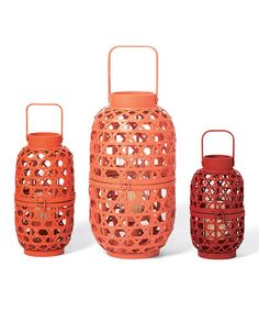 Take a look at this Red Cane-Croft Lantern Set by Foreside on #zulily today!
