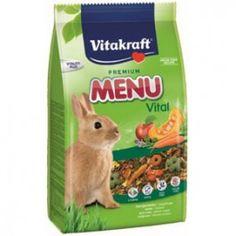 El pienso de Vitakraft Menu es un alimento completo para conejos.  Aporta todos los ingredientes necesarios para aportarle una dieta equilibrada con más de 17 ingrdientes.  Formato: 1 kg y 5kg