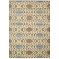 This rug's abstract designs and stylish looks are completed with an intricate color palette of blue, red and yellow. The designs on this rug are hand-carved for additional texture.