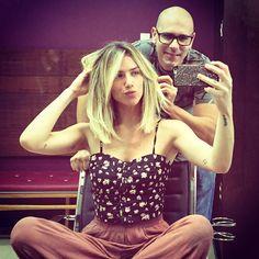 """Giovanna Ewbank no Instagram: """"Dia de dar um trato na cabeleira (cor, corte e tratamentos) com o meu mago @andersonacouto  #hair #longbob #andersoncouto #love"""""""