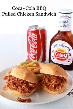 Coca~Cola BBQ Pulled Chicken Sandwich We couldn't find the BBQ sauce, so I just used something that sounded good. It was alright, not a favorite. -Hollie