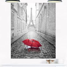 Eiffel View from Paris Street - Cityscape Photo Glossy Metal Wall Art