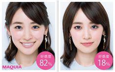 「MAQUIA」11月号では、女子アナメイクはなぜ好感度100%なのか、プロのヘアメイクがご紹介します。なぜ、女子アナメイクは100%好感度につながるのか?「それは、生まれつき美人に見えるから」教えてくれたのは…メイクアップアーティスト 宮澤結弦さんア... J Makeup, Makeup Inspo, Makeup Cosmetics, Makeup Inspiration, Makeup Tips, Japanese Makeup, Japanese Beauty, K Beauty, Hair Beauty