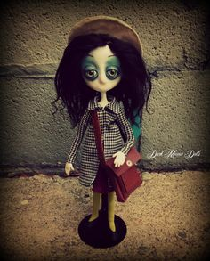 Gothic Art Doll By Dark Manor Dolls: Flora