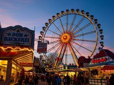 Hamburger Dom, Hamburg City, Central Europe, Attraction, Germany, Fair Grounds, France, Places, Ferris Wheels